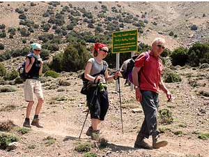 people trekking