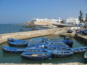 Fishing boats in Essaouira in Morocco