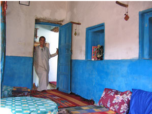 man standing in guest house