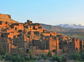 view over Ait Benhaddou in Morocco