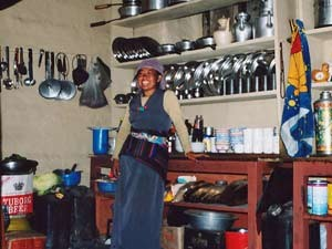 Local woman in her kitchen
