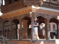Woman at Durbar Square in Patan