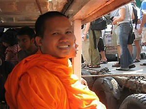 local monk in thailand