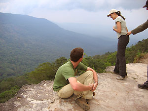 two people with landscape view
