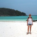 Staff member Caroline on the beach in Thailand