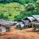Huts in the Palong village