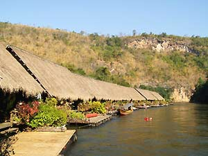 Bungalows next to the river