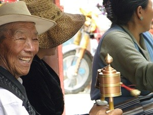 Local Tibet man smiling