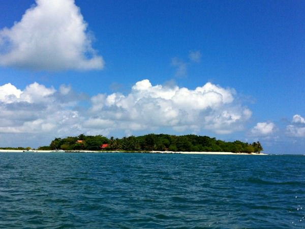 green island out in ocean in malysia