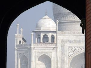 View of Taj Mahal from Archway in India