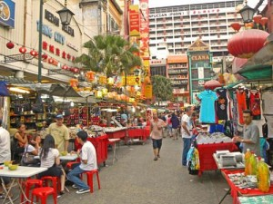 streets of chinatown in malaysia