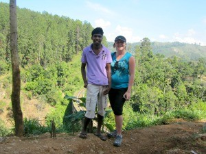 Ceri travel specialist with a guide in Sri Lanka