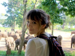 Hannah spotting elephants in Sri Lanka