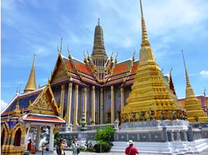 Gold palace in Bangkok Thailand