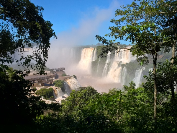 Brazil-Iguazu-Waterfalls-view-through-trees