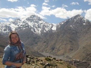 Brittany with Atlas Mountains in the background