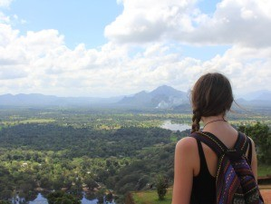 Staff member Hannah looking at view in Sri Lanka