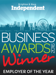 Brighton & Hove Independent Business Awards - Employer of the year logo by Blanca