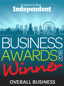 Brighton & Hove Independent Business Awards - Overall Business logo by Blanca