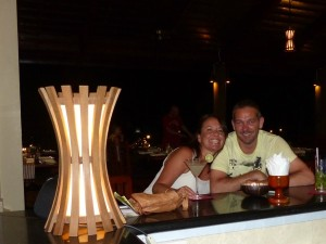 couple at bar in Cambodia