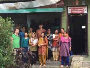 Rickshaw staff with local partners in nepal