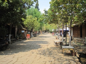 shaxi cobbled street in china