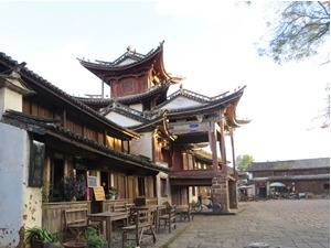 market building in shaxi, china