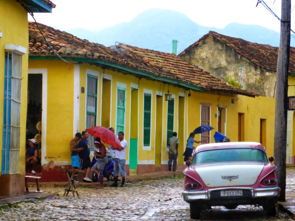 authentic street view in trinidad