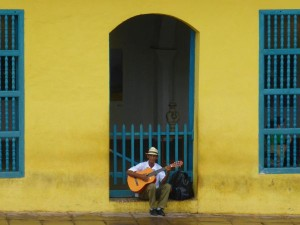 local playing guitar in trinidad