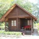 Wooden chalet accommodation