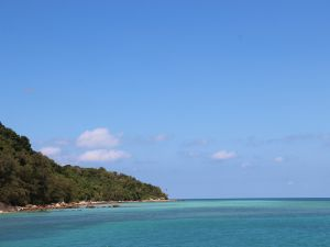 View of Pulau Besar island from the sea