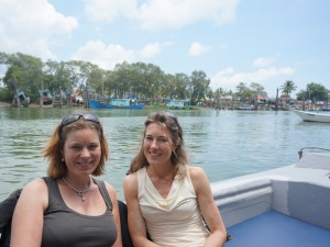 Customers on a speedboat