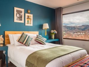 Bedroom with a view of Cusco