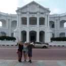Travellers on a walking tour in ipoh