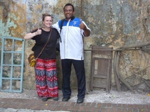 Malaysia travel specialist smiling with local guide