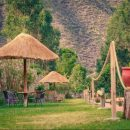 The garden of our In Style hotel in Ollantaytambo
