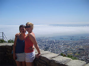 two girls on table mountain, cape town