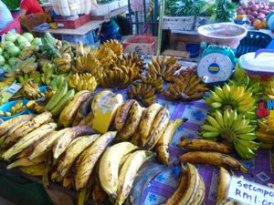 local market fruit stall in borneo