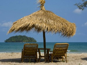snu chairs on the beach in sihanoukville