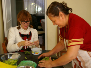 Cooking in a Local Home