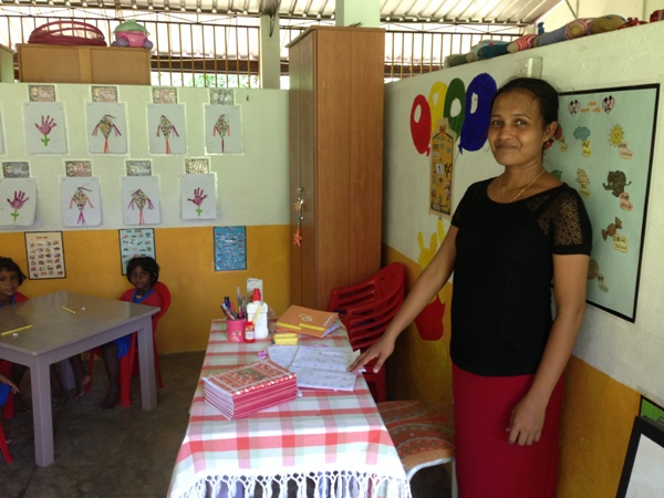 local teacher at the project in sri lanka