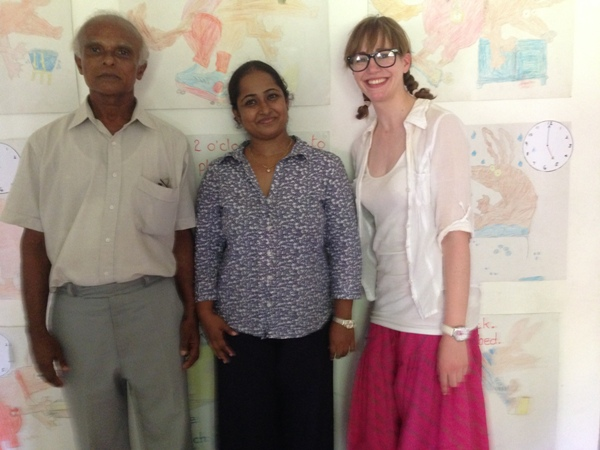 Jennifer with the staff at the rainbow project in sri lanka