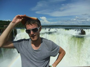 Travel specialist, Paul at a waterfalll