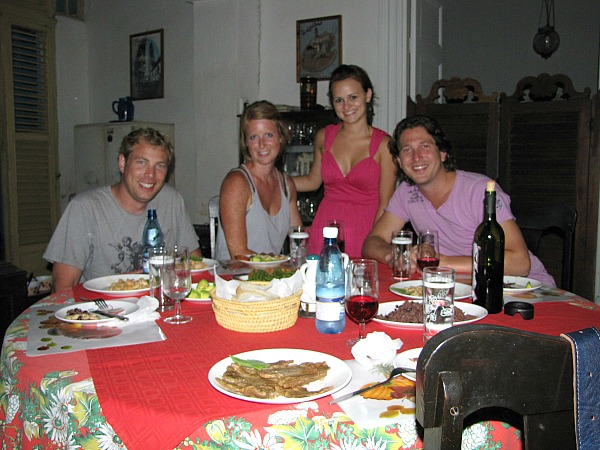 Customers with local couple in casa particular cuba