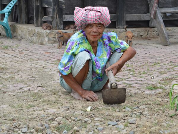 local woman in sumatra