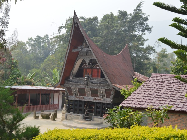 traditional batak house in sumatra
