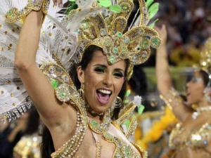 Carnaval participant in street celebrations in Rio de Janeiro