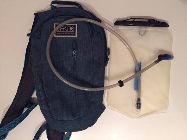 Backpack with a water bladder system