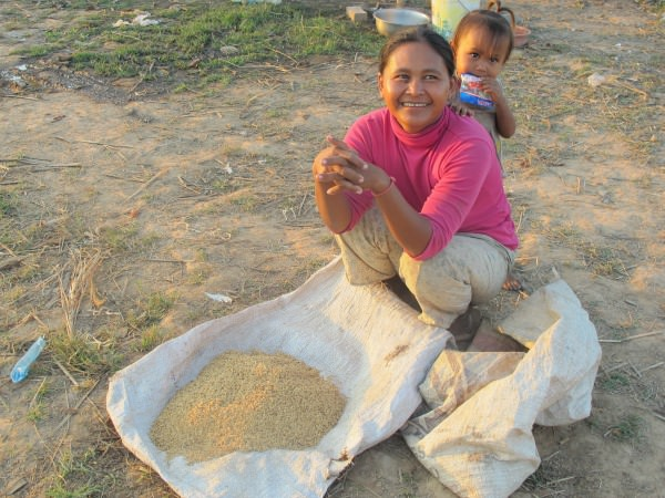 Small child and her mother in Cambodia