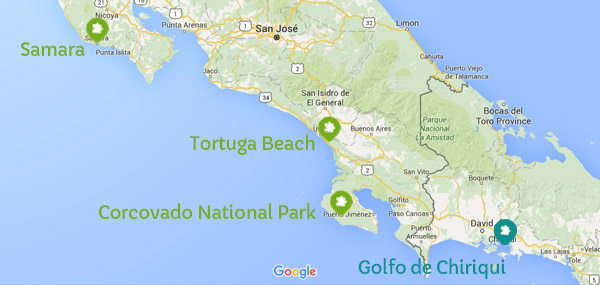 costa-rica-pacific-ocean-snorkelling-spots-map-blog